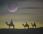 Bethlehem Painting Prints - The Three Kings Print by Edwin Alverio