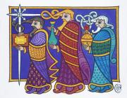 Celtic Mixed Media - The Three Kings by Ian Herriott
