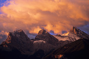 Alberta Foothills Landscape Prints - The Three Sisters Print by Bob Christopher