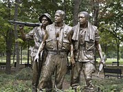 2000s Photo Prints - The Three Soldiers By Frederick Hart Print by Everett