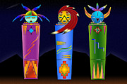 Spirits Digital Art - The Three Spirits by Tim Hightower