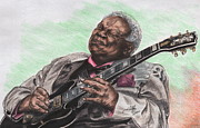 B B King Posters - The Thrill Is Gone Poster by Kathleen Kelly Thompson
