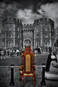 Selective Color Framed Prints - The Throne Framed Print by Yhun Suarez