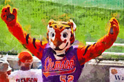 Clemson Art - The Tiger by Lynne Jenkins