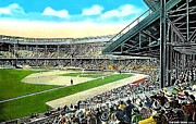 Baseball Stadiums Framed Prints - The Tigers Navin Field In Detroit Mi In 1940 Framed Print by Dwight Goss