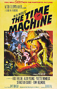 1960s Poster Art Posters - The Time Machine, From Left Center Poster by Everett