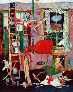   Of Pianos Paintings - The Time Machine by Roger Phillpot