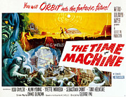 1960s Poster Art Posters - The Time Machine, Style B Half-sheet Poster by Everett