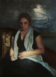 Oil Portrait Art - The Time Travelers Wife by Richard T Scott