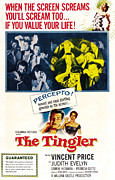 1950s Poster Art Photo Metal Prints - The Tingler, Bottom Vincent Price Metal Print by Everett