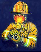 Firefighter Framed Prints - The Tip Framed Print by Paul Walsh