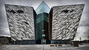 Adobe Framed Prints - The Titanic Belfast Framed Print by Chris Cardwell