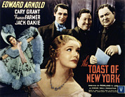 Cary Framed Prints - The Toast Of New York, Frances Farmer Framed Print by Everett