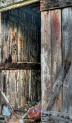 Wooden Barns Posters - The Tool Shed Poster by JC Findley