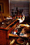 Setup Prints - The Tools of an Artist Print by David Patterson