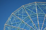Amusement Park Ride Framed Prints - The Top Of A Ferris Wheel, Low Angle View Framed Print by Frederick Bass