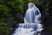 Water Photographs Prints - The Top of Dingmans Falls Print by Rick Berk