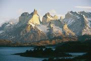 Torres Posters - The Torres Del Paine Mountains Poster by Skip Brown