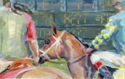 Jockey Painting Originals - The Tote Board by Kimberly Santini