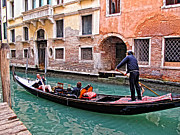 Gondola Ride Posters - The Tourist Poster by Linda Pulvermacher