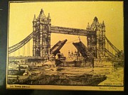 Autographed Paintings - The Tower Bridge by Graham Barry Clilverd