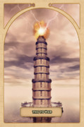 Zodiac Digital Art Posters - The Tower Poster by John Edwards