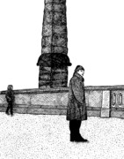 Berlin Drawings Prints - The Tower Print by Karl Addison