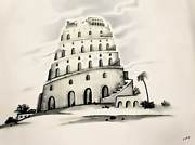 Religious Drawings Digital Art - The Tower of Babel by Fotios Pavlopoulos