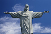 Religious Characters And Scenes Photos - The Towering Statue Of Christ by Richard Nowitz