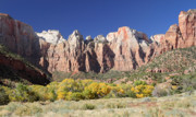 Zion National Park Photos - The towers of the Virgin in Zion National park by Pierre Leclerc
