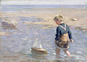 Paddling Art - The Toy Boat by William Marshall Brown
