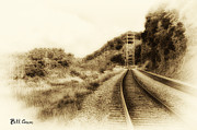 Rail Digital Art - The Tracks of My Tears by Bill Cannon
