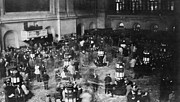 Exchanges Prints - The Trading Floor Of The New York Stock Print by Everett