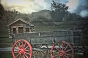 Log Cabins Mixed Media - The Trading Post - Tennessee by Deborah