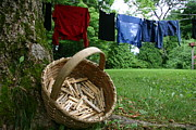 Baskets Photos - The Traditional Approach To Washday by Stephen St. John