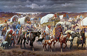 Covered Wagon Posters - The Trail Of Tears Poster by Granger