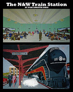 Norfolk; Painting Prints - The Train Station at Portsmouth Ohio Print by Frank Hunter