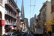 The Transamerica Pyramid Through Chinatown San Francisco Print by Wingsdomain Art and Photography
