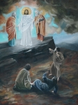 Sacred Art Painting Prints - The Transfiguration Print by Cara Zietz