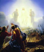Jesus Metal Prints - The Transfiguration Metal Print by Carl Heinrich Bloch