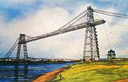 Transporter Posters - The Transporter Bridge Poster by Andrew Read