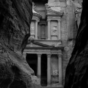 Jordan Digital Art - The Treasury - Petra by Peter Dorrell