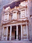 Petra - Jordan Prints - The Treasury Print by Larry Underwood