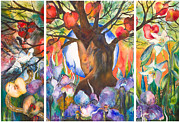 Garden-of-eden Paintings - The Tree of Life by Kate Bedell