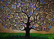 Klimt Painting Originals - The Tree Of Life by Samantha Black