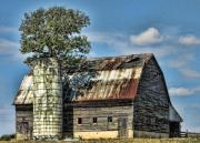 Indiana Farms Posters - The Tree Silo Poster by Kristie  Bonnewell