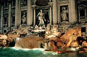 Sculpture Framed Prints - The Trevi Fountain Framed Print by Traveler Scout