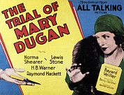 Cloche Posters - The Trial Of Mary Dugan, Norma Shearer Poster by Everett