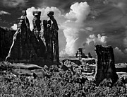 Windows Digital Art Originals - The Tribunal Arches National Park by Nadine and Bob Johnston