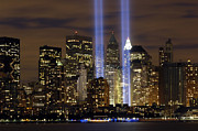 Two Towers Posters - The Tribute In Light Memorial Poster by Stocktrek Images
